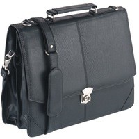 Image for Falcon Synth Leather Flapover Briefcase