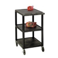 Image for GPC 3 Shelf Service Trolley Black GI341L
