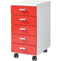 Image for Germania Contemporary Mobile Pedestal Red