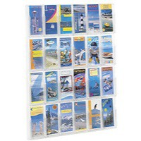 Image for Safco Reveal 24 Pocket Clr Display Rack