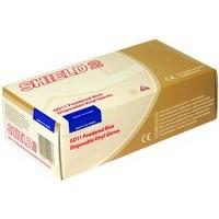 Image for Shield Vinyl Gloves Blue Small Pk100