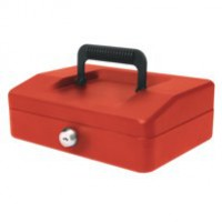 Image for Helix 200mm Sloping Lid Cash Box Red WA7060