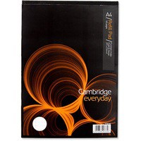 Image for Cambridge Refill Pad A4 Punched 4-Hole Ruled Feint and Margin Head Bound K76792