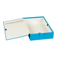 Image for Concord Contrast Foolscap Laminated Box File Sky Blue 13478
