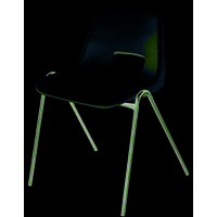 Image for Jemini Stacking Chair Polypropylene Blue