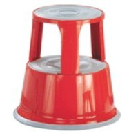 Image for Q-Connect Metal Step Stool Red