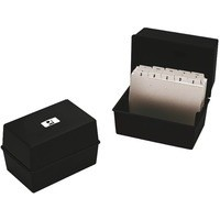 Image for Q-Connect Card Index Box 6x4 inches Black