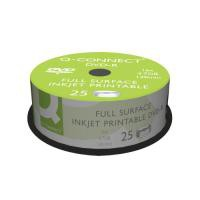 Image for Q-Connect Full-Surface Inkjet Printable DVD-R Discs 4.7GB 16x (Pack of 25)