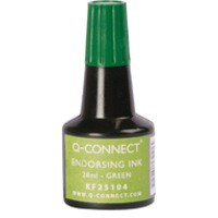 Image for Q Connect Endorsing Ink 28ml Green