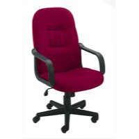 Image for Jemini High Back Manager Chair Claret
