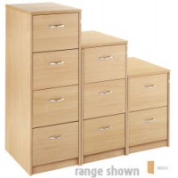 Image for 3Drw Filing Cabinet - Beech