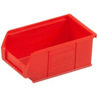 Image for Barton TC2 Small Parts Container Semi-Open Front Red 1.27 Litre 165x100x75mm Pack of 20 010022