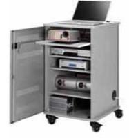 Image for Nobo Multi-Media Cabinet Grey/Silver 1902339