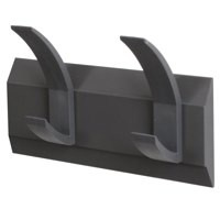 Image for FF linear 2 hook coat rack graphite nw205833