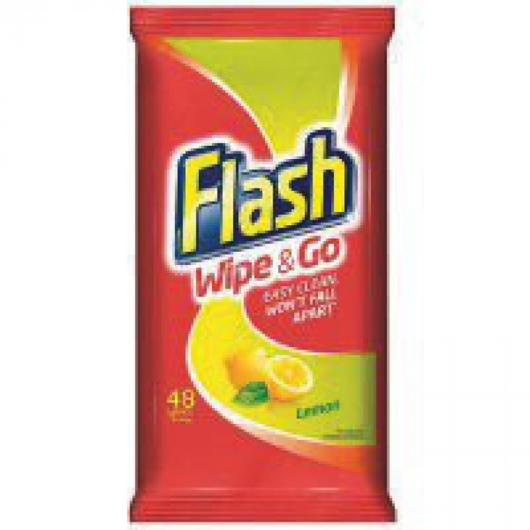 Flash Wipe + Go Lemon Wipes Pk40