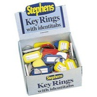 Image for Stephens Identitab Keyring 30mm With Tags Pack 10 Code