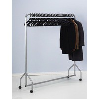 Image for Garment Hanging Rail Plus 30 Hangers Silver 316939