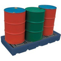 Image for Pallet Sump Poly 4 Drum Capacity Blue 321623