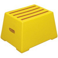 Image for 1 Tread Yellow Plastic Safety Step