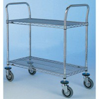 Image for 2 Tier 610x914mm Chrome/Steel Trolley