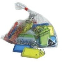 Image for Kevron Plastic Clicktag Key Tag Giant Assorted Pack of 25 ID30AC25