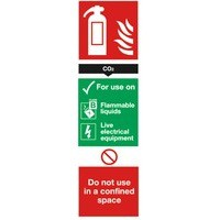 Image for CO2 Fire Extinguisher Self-Adhesive Sign