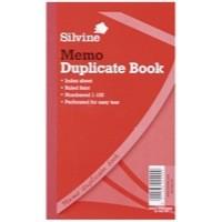 Image for Silvine Duplicate Book 8.25x5 Inches Memo 601