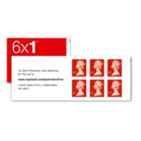 Image for 6 x 1st class (self adhesive) 50 books - total 300 stamps