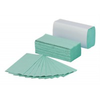 Image for 1 Ply Green C-Fold Hand Towel 2850 Sheets Packed 190 x 15