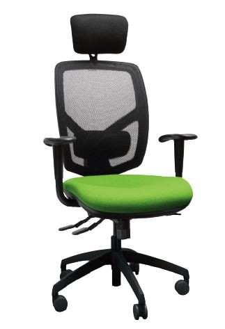 Bibbo Operators Chair Mesh Back with HA Arms and Headrest
