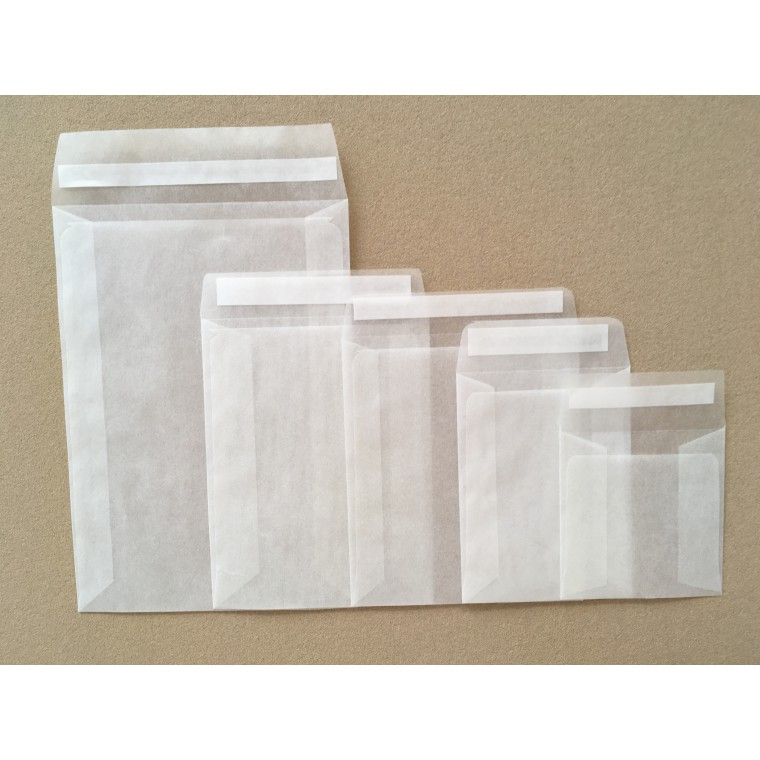 117mm x 89mm Glassine Peel and Seal Envelope Bags [Pack of 1000]