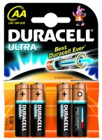 Duracell Ultra M3 Battery Pack of 4 AA 75051955 (469715)