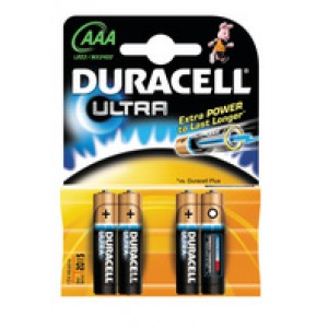 Duracell Ultra M3 Battery Pack of 4 AAA 75051959