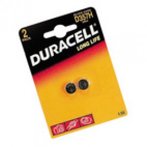 Duracell Button Battery Silver Oxide Pack of 2 1.5 D357 15031685 DU357
