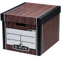 Fellowes R-Kive Premium Presto Storage Box Woodgrain 00725-FFLP