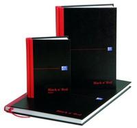 Black n Red Casebound Manuscript Book 192 Pages A4 Single Cash M66176