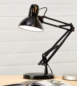 Desk Lamp Swing Arm 60W Black