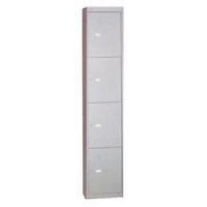 Bisley 4 Door Locker 305x305x1802mm Goose Grey