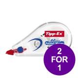 Tipp-Ex Mini Pocket Mouse Correction Tape Roller 5mmx6m Ref 932564 [Pack 10] [2 For 1] Apr-Jun 2019