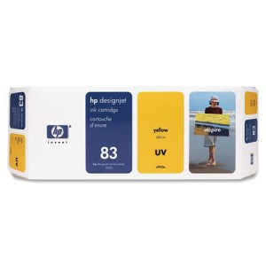 HP 83 Yellow UV Cartridge Pk3 C5075A