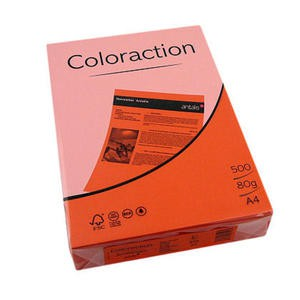 Coloraction Tinted Paper Deep Orange (Amsterdam) FSC4 A4 210X297mm 80Gm2 Pack 500