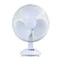Image for  5 Star Facilities Desk Fan 12 Inch 90deg Oscillating with Tilt & Lock 3-Speed H480mm Dia.305mm White