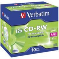 Image for Verbatim CD-RW 700MB 8-12X Hi-Speed Pk 10